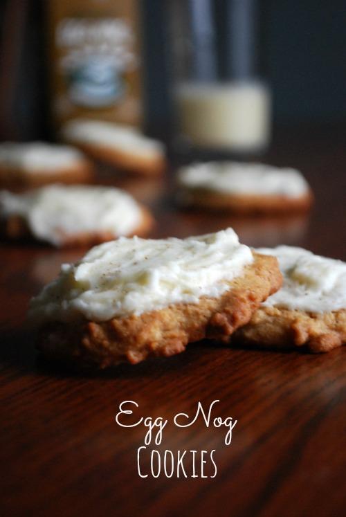 egg nog cookies on table