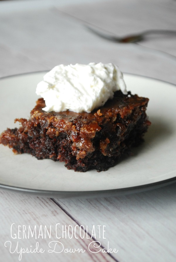 A piece of cake on a plate with whipped cream