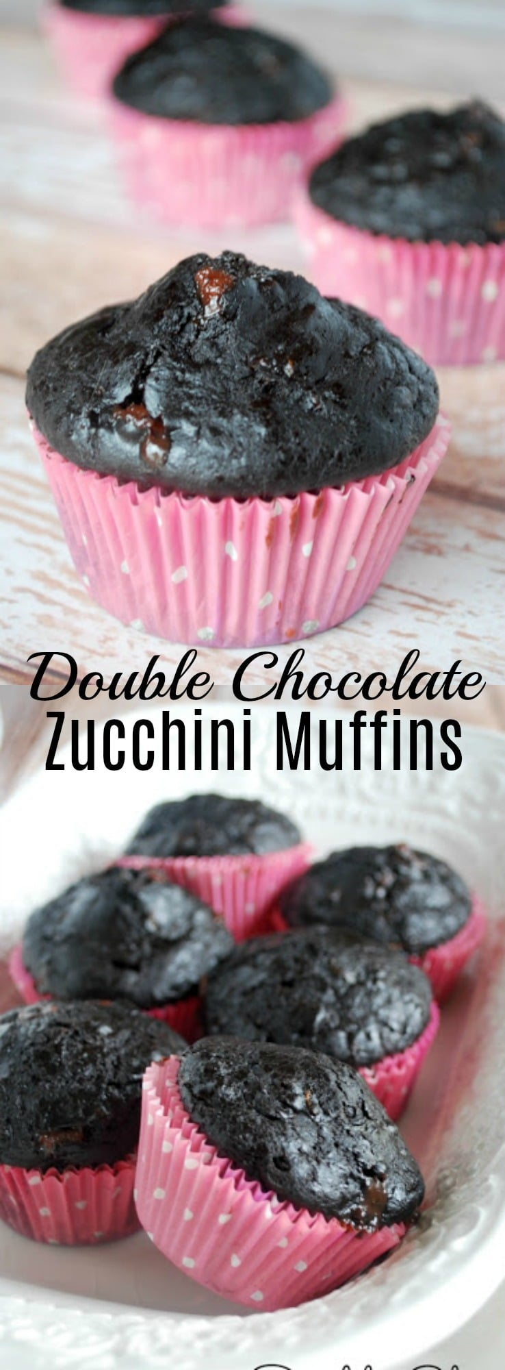 These ultra moist and decadent double chocolate zucchini muffins scream dessert, but they are secretly healthy! No one will ever guess!