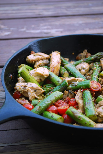 Skillet Pesto Chicken and Vegetables is a 30 minute meal worth making again and again!