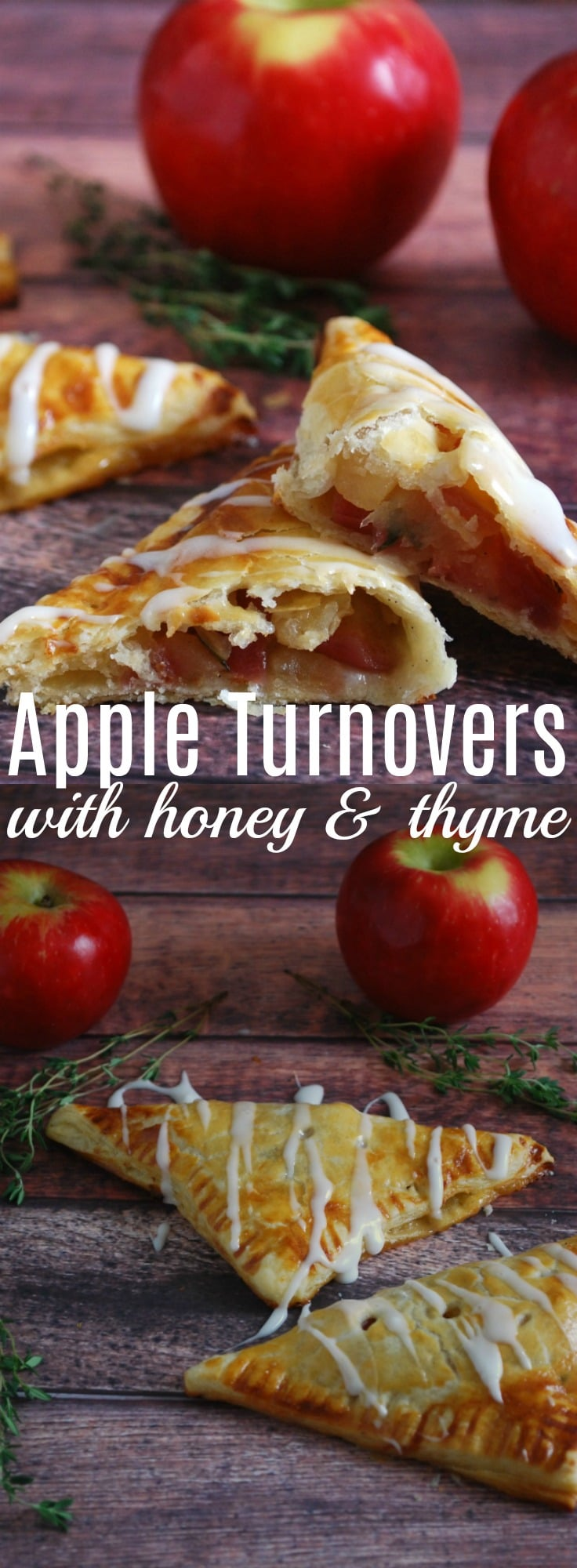 You will never believe how easy and delicious these apple turnovers are, made with a rustic homemade puff pastry and sweetened with honey and thyme. Apple Turnover Recipe, Apple with Honey and Thyme, Rustic Puff Pastry Recipe,