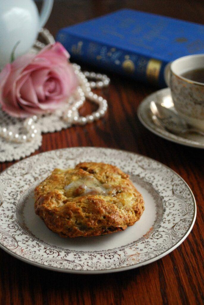 Pride and Prejudice Apple Bacon Cheddar Scone Recipe inspired by Jane Austen