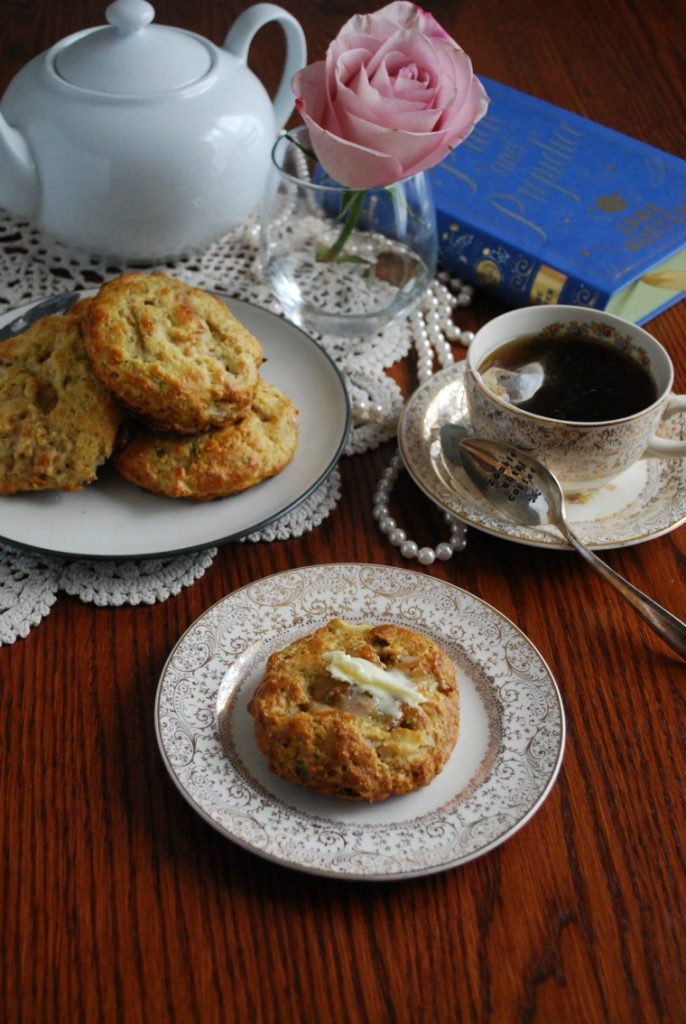 Apple Bacon Cheddar and Rosemary Scone or Biscuit Recipe