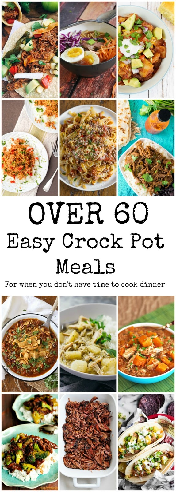 A collection of over 60 of the best crock pot recipes for your family - easy, healthy and perfect for those ultra busy weeknights! Easy Crock Pot Recipes, Family Friendly Slow Cooker recipes,