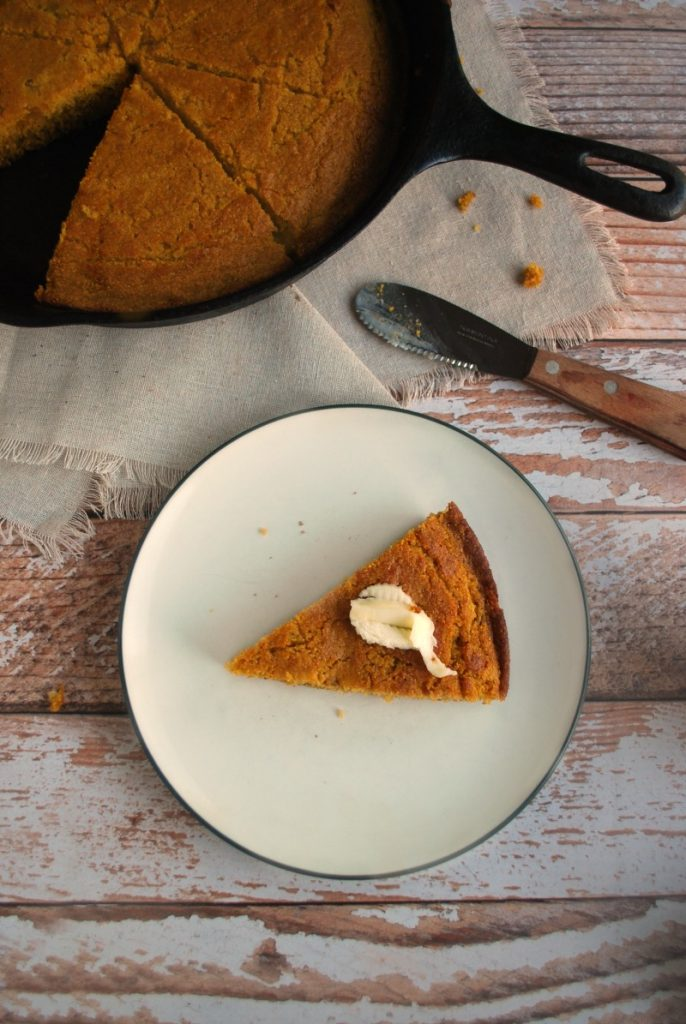 Skillet Pumpkin Beer Cornbread - super simple, real ingredients, amazingly delicious!