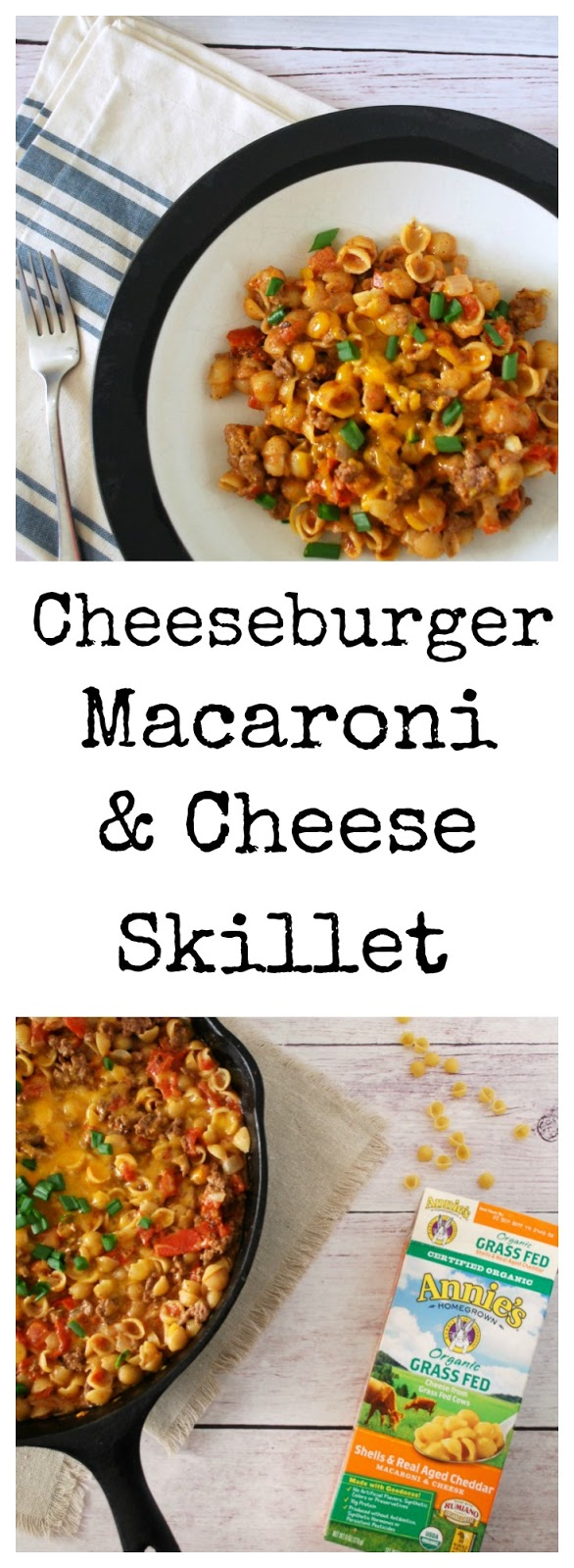 This 30 minute skillet meal is the perfect fall comfort food – filled with pasta, cheese sauce, and so many great flavors, its something the whole family will love! Easy Skillet Meal, Family Friendly, Weeknight Meal,