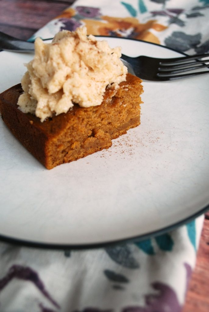 Ultimate Fall Pumpkin Snack Cake