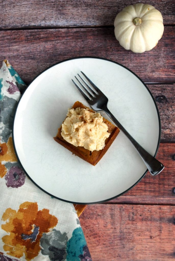 Pumpkin Gingerbread Maple Cake with Earl Grey Frosting