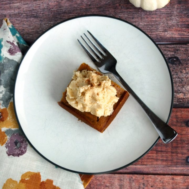 Pumpkin Maple Gingerbread Cake with Earl Grey Whipped Frosting