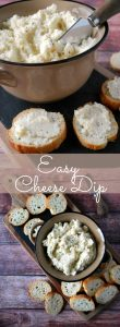 easy cheese dip appetizer
