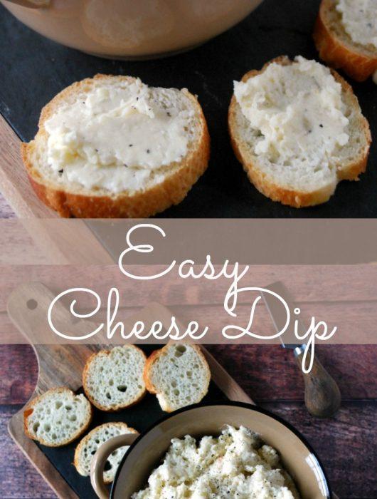 Easy 4 ingredient cheese dip