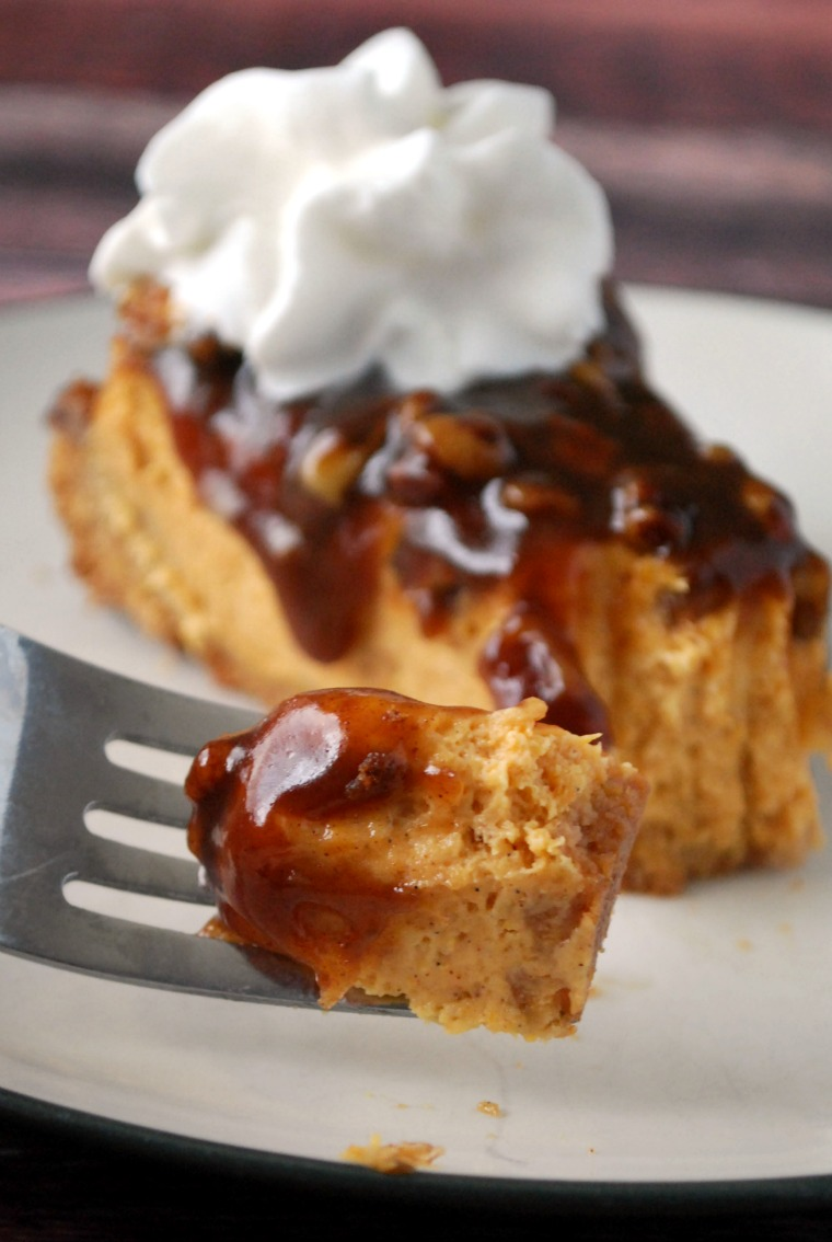 Easy Pumpkin Pecan Cheesecake Pie