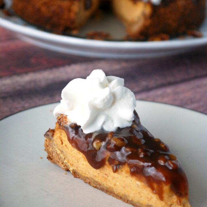 No Fal Pumpkin Pecan Cheesecake