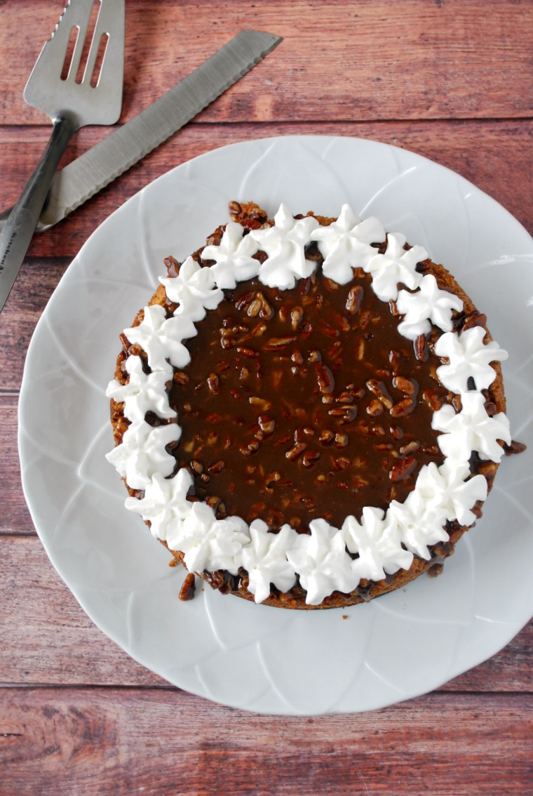 Pumpkin Cheesecake with Brown Sugar Pecan Topping