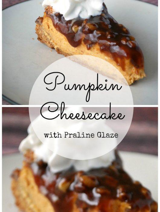 No Fail Pumpkin Cheesecake with Praline Sauce