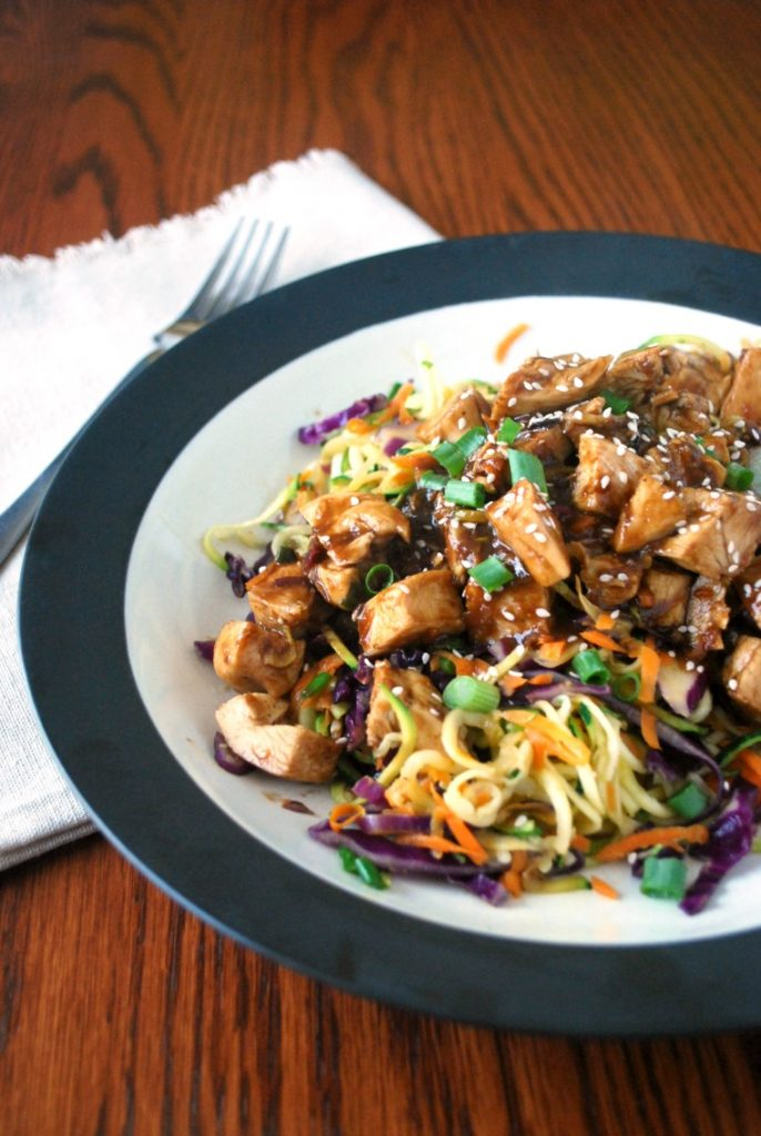 Easy, healthy, and fast chicken thai noodle skillet meal