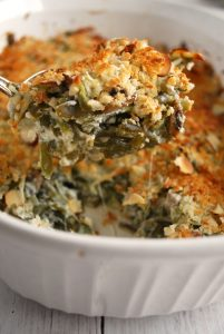 This green bean casserole is so easy and tasty! And its soup free!