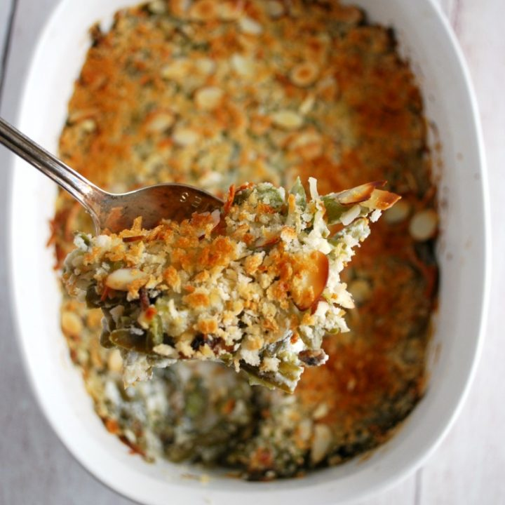 Lightened UP Green Bean Casserole - so easy and so tasty!