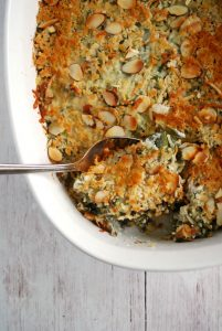 No Soup Green Bean Casserole - a lightened up healthier version!