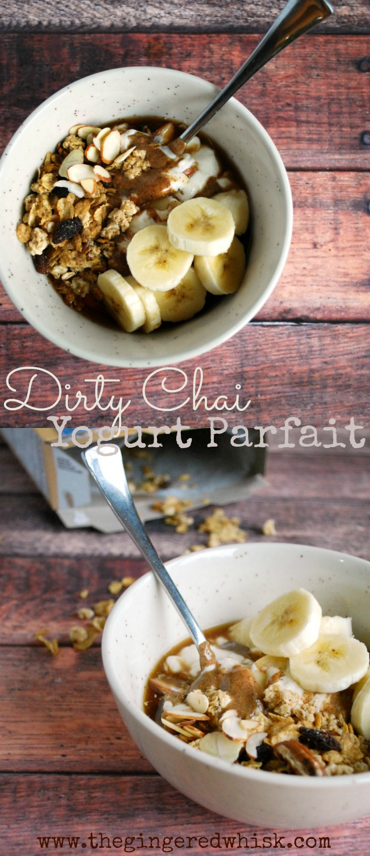 This Dirty Chai Greek Yogurt Parfait is a perfect breakfast to start your day off right - plus it takes literal minutes to make!
