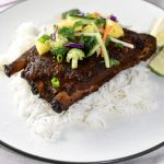 Turmeric Ribs with Pineapple Slaw in the Slow Cooker