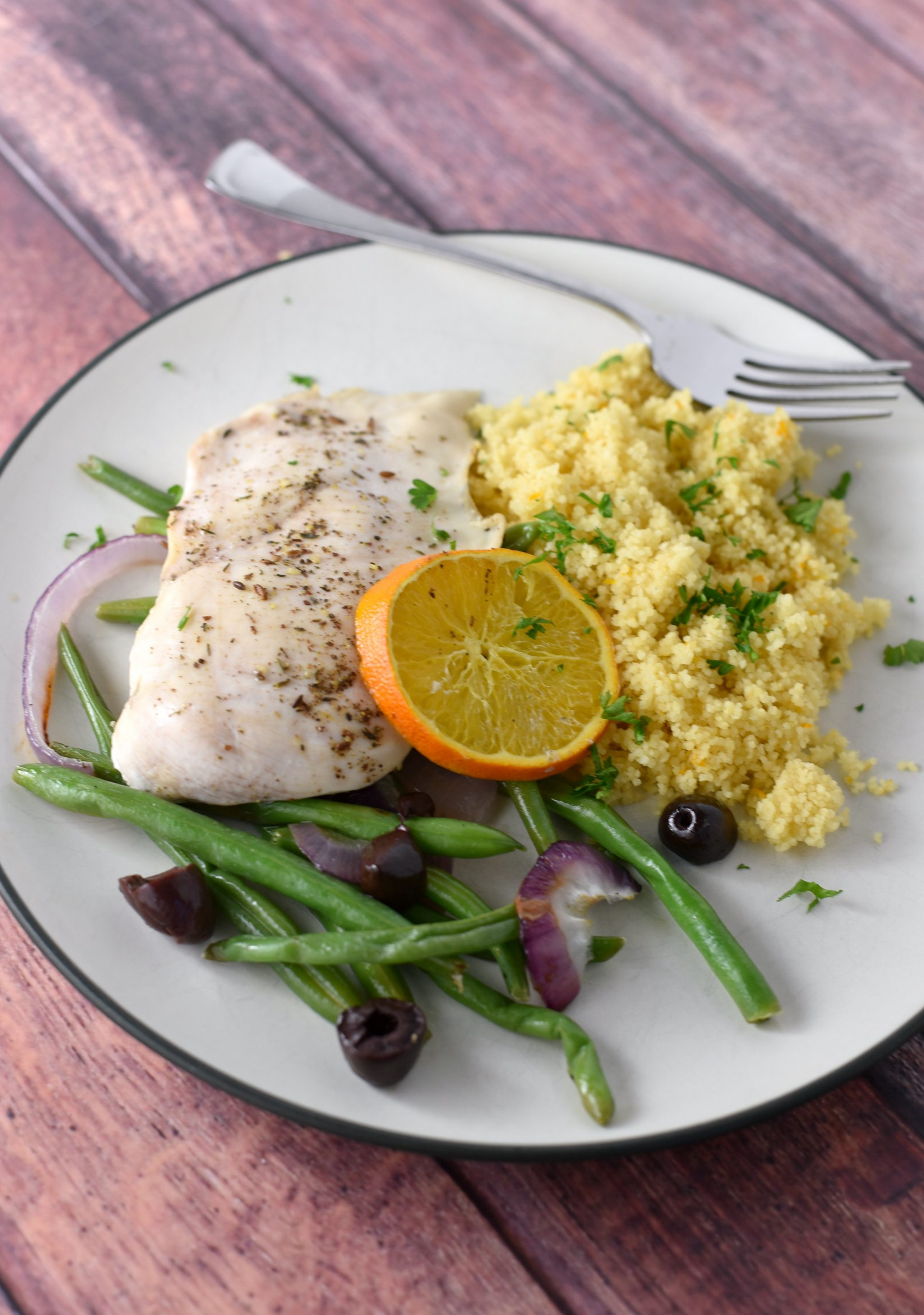 30 minute Za'atar Chicken with orange Couscous