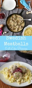 Princess Anna & Queen Elsa LOVE Swedish Meatballs, and so will your kids! This easy 30 minute meal will get your kids excited about eating!