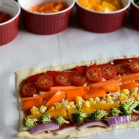 Rainbow Pizza + How to Get Kids to Eat Their Veggies