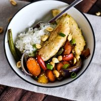 Kung Pao Chicken Sheet Pan Meal