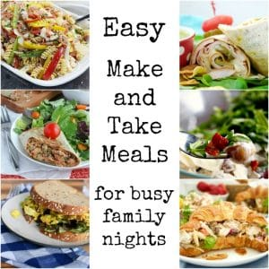 perfect meals to take to practice or the ball field - great for picnics, too!