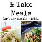 Make and take meals for families!