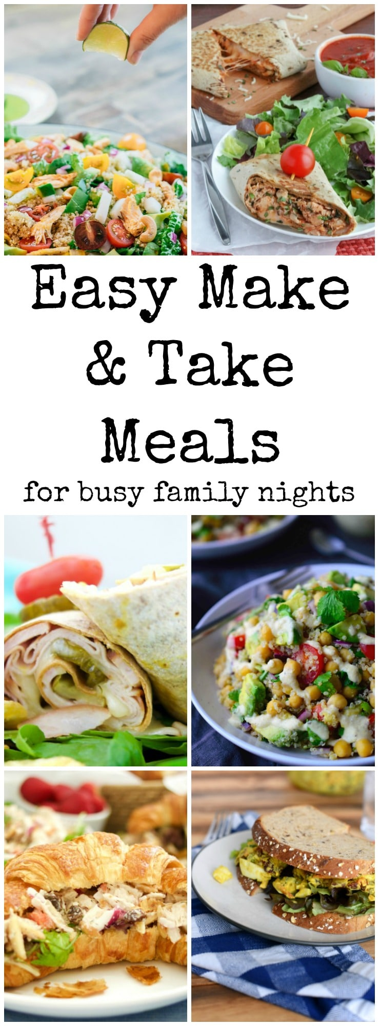 Have a busy night schedule with lessons, soccer practice and the baseball field? These easy take and make meals are perfect healthy picnics for your family!