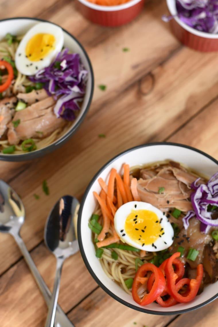 Slow Cooker Chicken Ramen - easy family friendly meal
