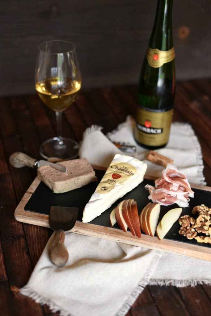 French Chartuterie Tray - Brie Cheese - Pinot Gris