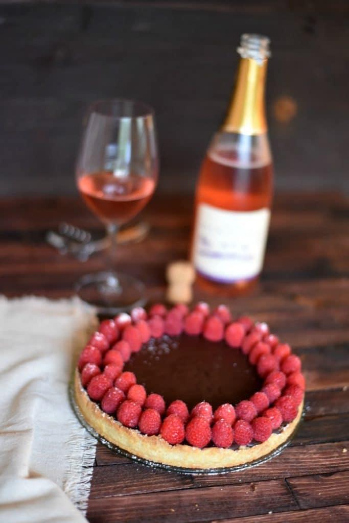 french chocolate ganache tart easy dessert