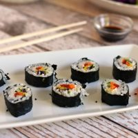 Rainbow Veggie Sushi for Mulan - Eat Like A Princess