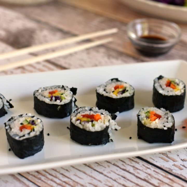 Vegetable Sushi for Kids - Inspired by Princess Mulan