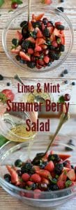 Summer Berry Fruit Salad with Mint Honey Lime Dressing and Poppy Seeds