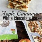 White Chocolate Apple Cinnamon Granola Bark