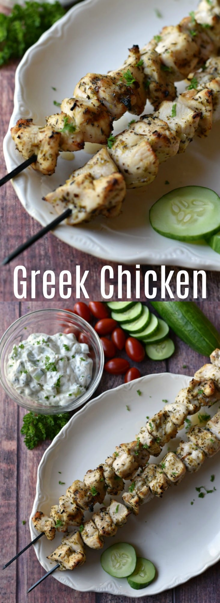 This easy greek grilled chicken recipe is perfect for busy weeknights! Just a few simple ingredients and 30 minutes and you have a meal your family will love!