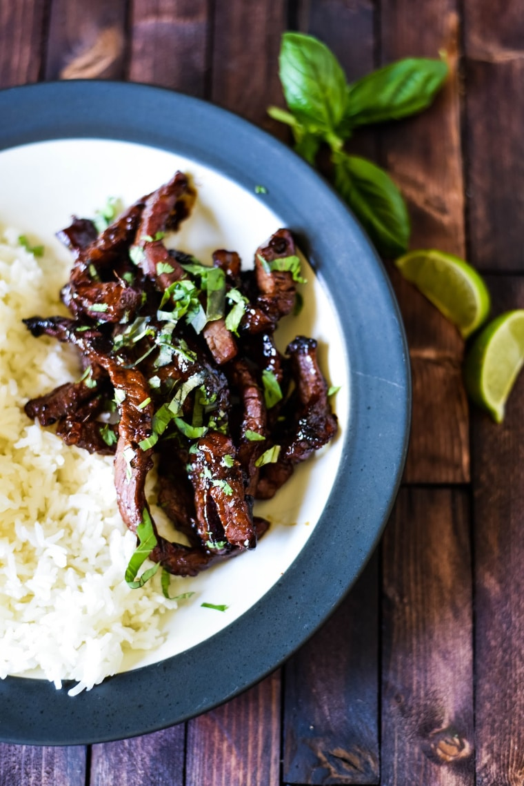 bowl with bulgogi beef and rice