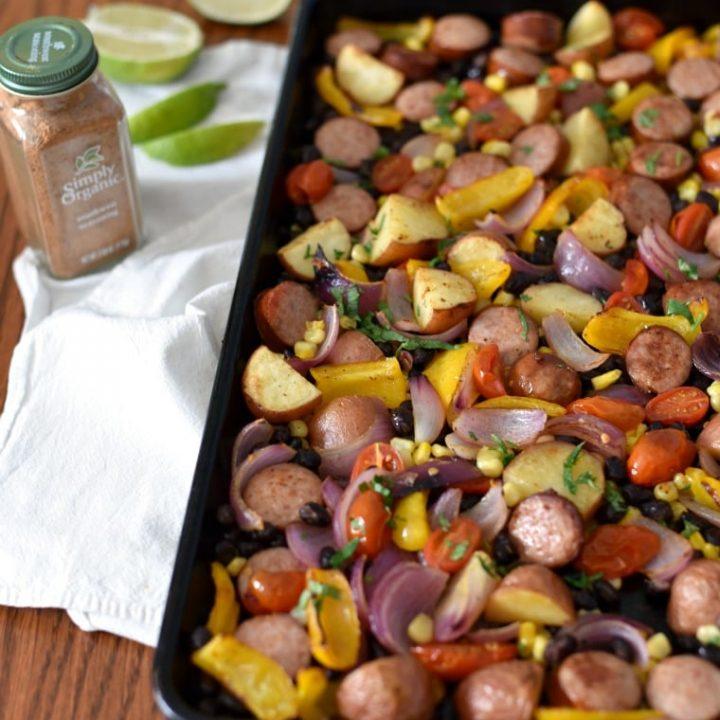 Southwest Sausage Sheet Pan