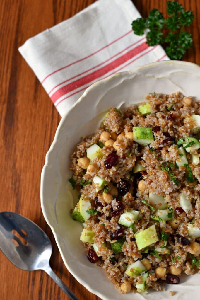 bulgar recipes with cranberries and cucumbers