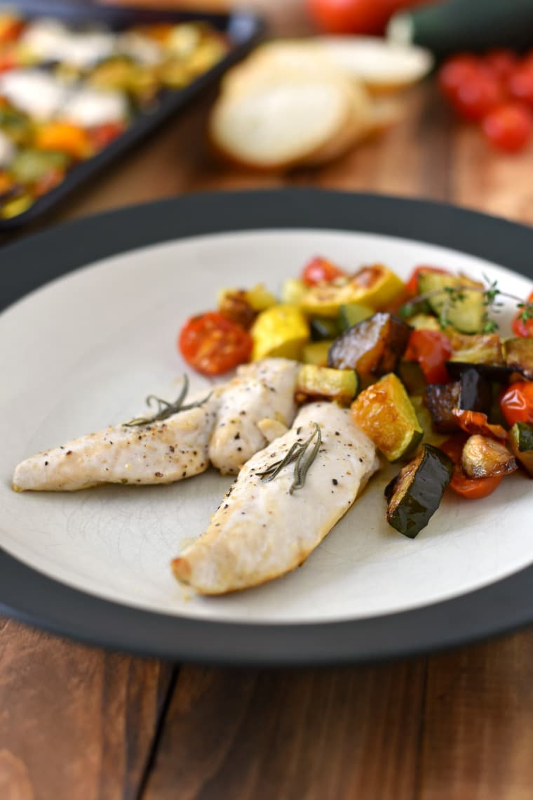 Easy Rosemary Chicken and Ratatouille