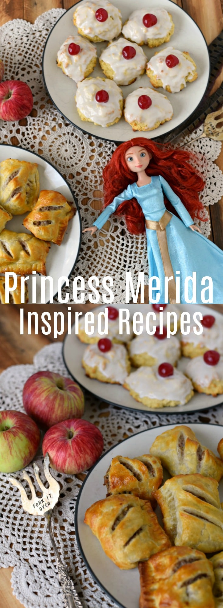 Easy Sausage Rolls - Princess Merida Recipe - Eat Like A Princess - These easy sausage rolls and empire biscuits make the perfect meal for a feast inspired by Princess Merida