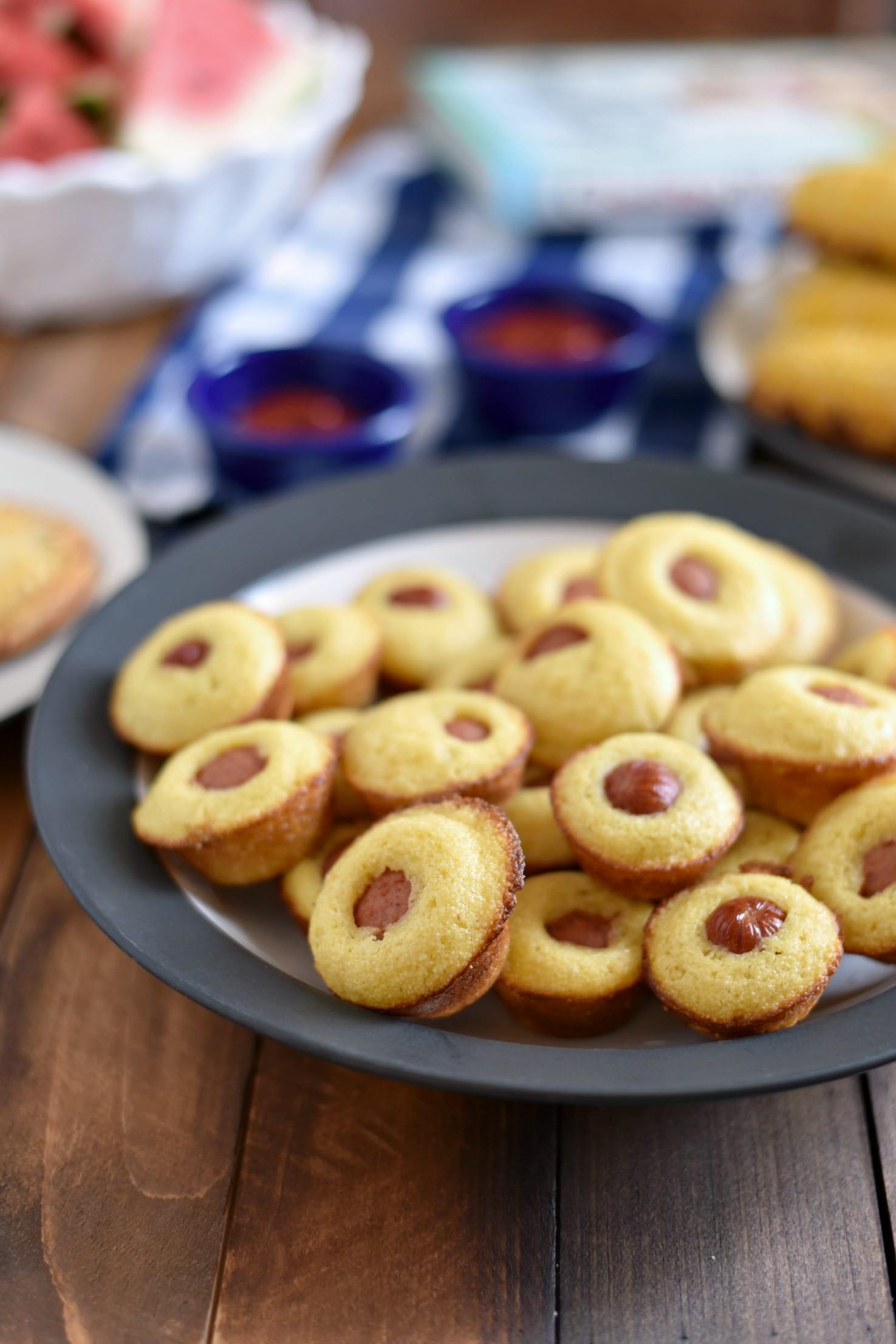 Mini Baked Corn Dog Muffins