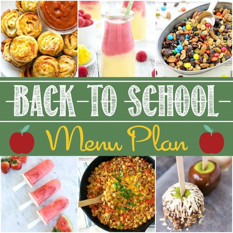 Back to school menu