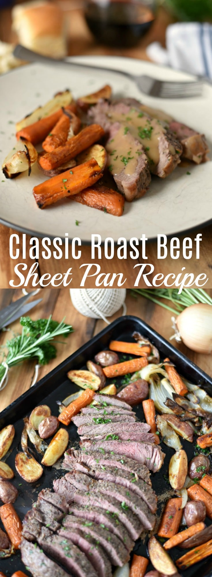 This easy Classic Roast Beef Sheet Pan Recipe is a fantastic choice for busy weeknights. The Top Sirloin Steak has all the flavor in a fraction of the time.
