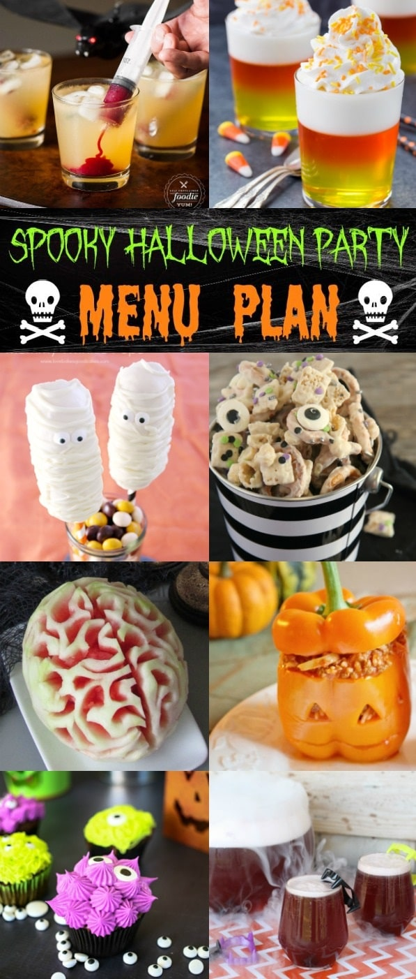 This easy and fun menu plan is perfect for a spooky and fun halloween party!