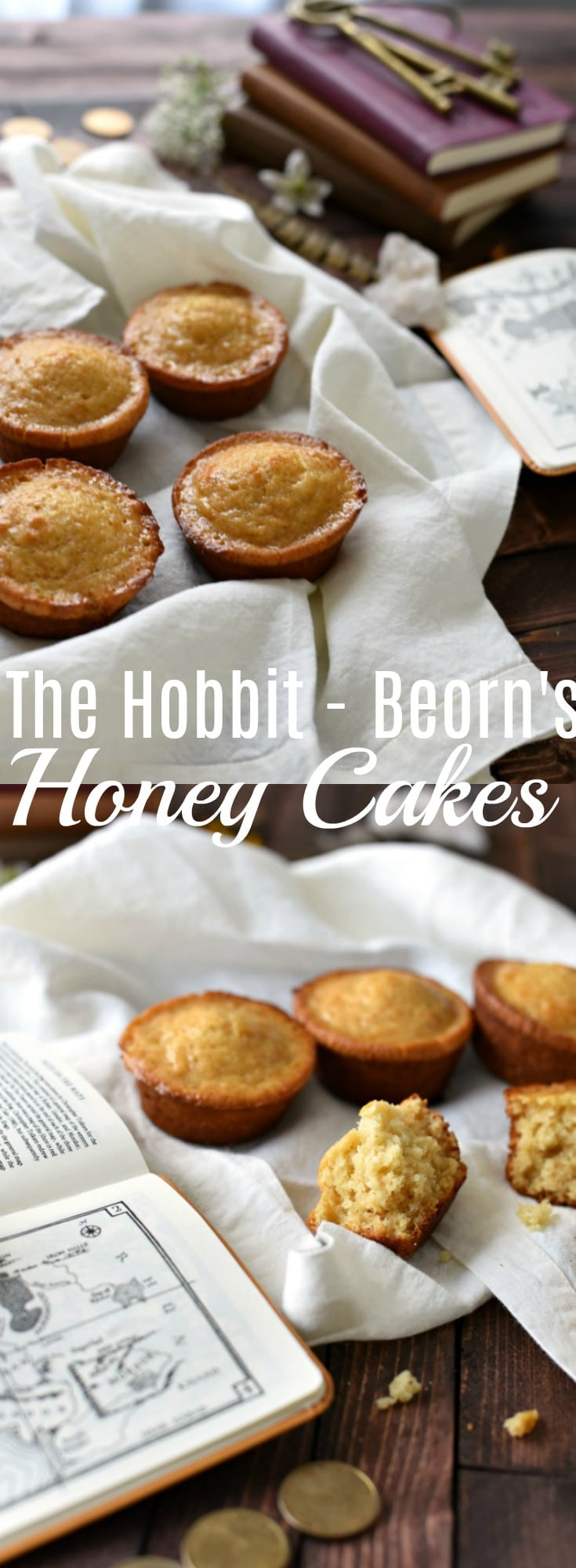 These twice baked honey cakes are slightly crispy on the outside, but dense and moist on the inside, plus full of honey flavor. This Hobbit inspired cake recipe is a perfect treat for breakfast, tea, or snack! Lord of the Rings Recipe, Hobbit Inspired Recipe, Beorn's Honey Cake Recipe,